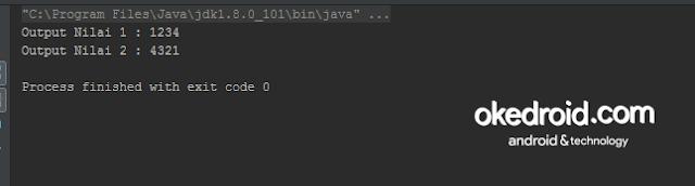 Output Hasil Contoh Program Konversi Tipe Data Primitif ke Class Wrapper Class ke Tipe Data Primitif adalah  dalam Java
