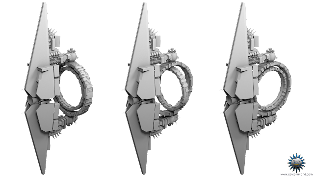 Oya Super-Dreadnought 3D model free download combat spaceship military spacecraft