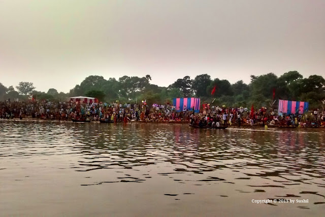 Chhath Puja in Sone river, Dehri on Sone, Bihar