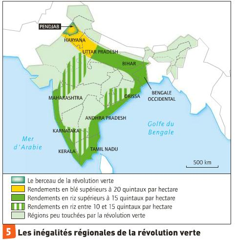 Carte Inde Nourrir Les Hommes.Cap Sur Le Dossier D Histoire Geo La Revolution Verte En