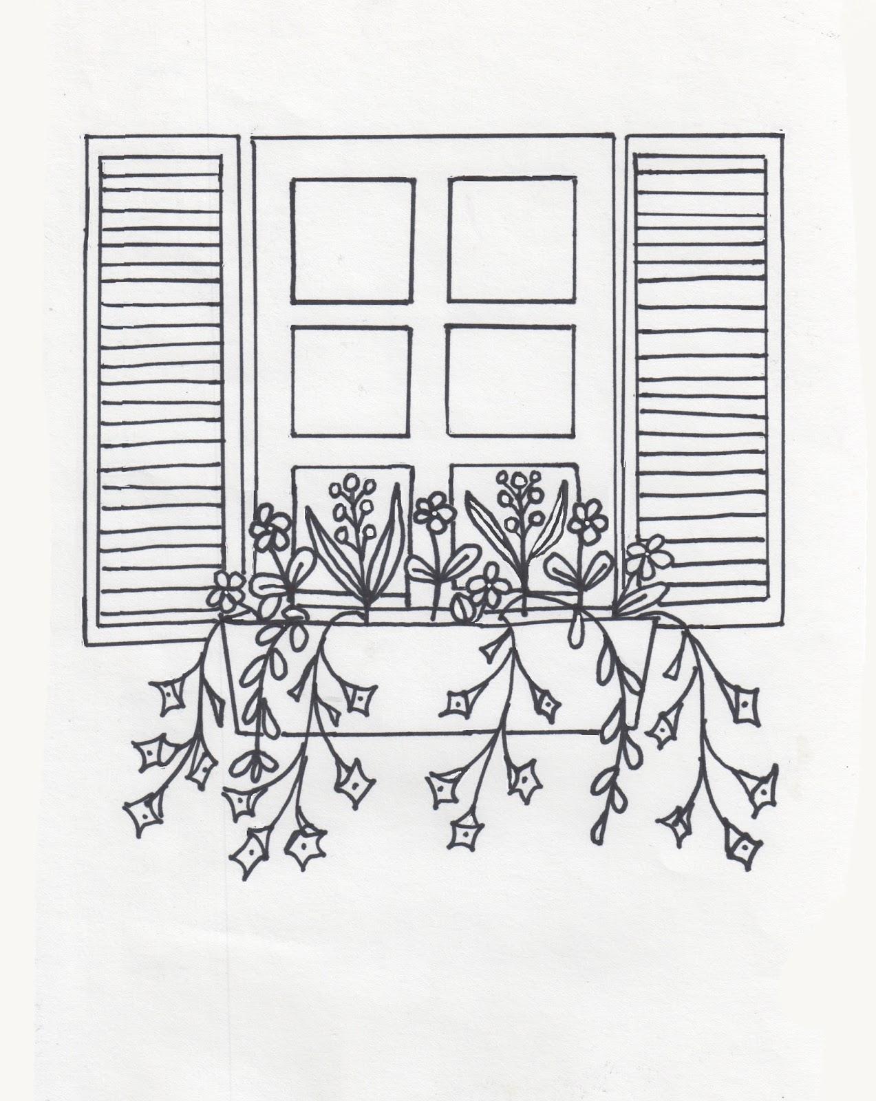 Randi Art: Window Box (Coloring Book Version)