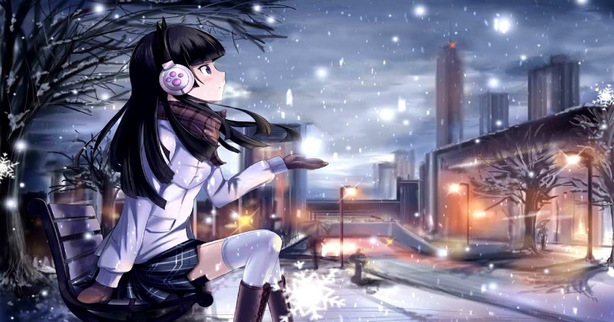 Anime 4k Wallpaper: Download Anime Girl Snowfall [4K 60FPS] Wallpaper Engine