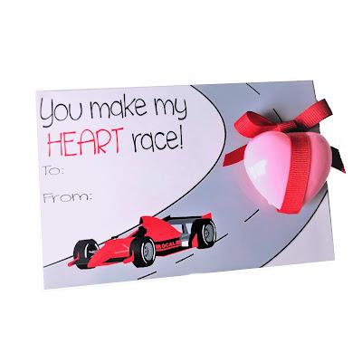 race car Valentines