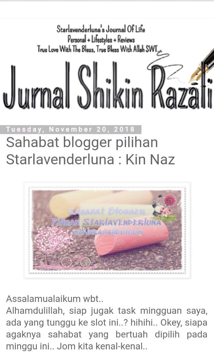 Kinah Sahabat Blogger Pilihan Starlavenderluna