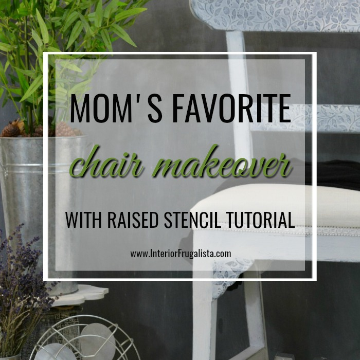 Raised Stencil Tutorial Chair Makeover
