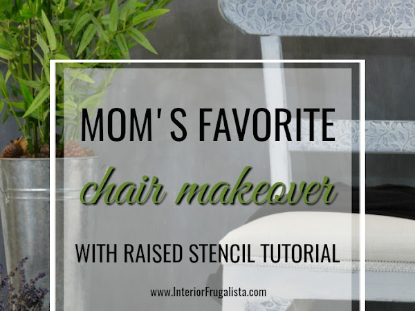 Mom's Favorite Chair Makeover With Raised Stencil Tutorial
