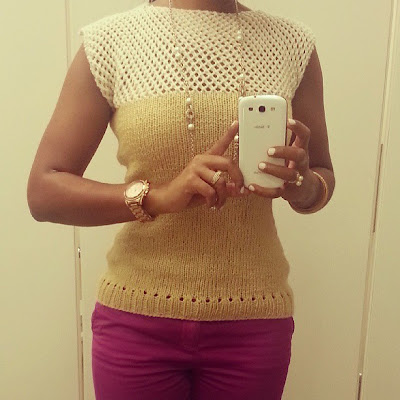 Handmade knit top  | Knitty in the city on *sparklingly  |  http://sparklingly.blogspot.com