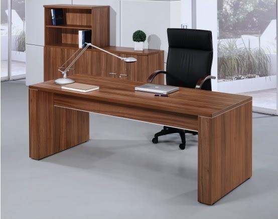 Escritorio pc de melamina madera dise os modernos web for Mesas de despacho modernas