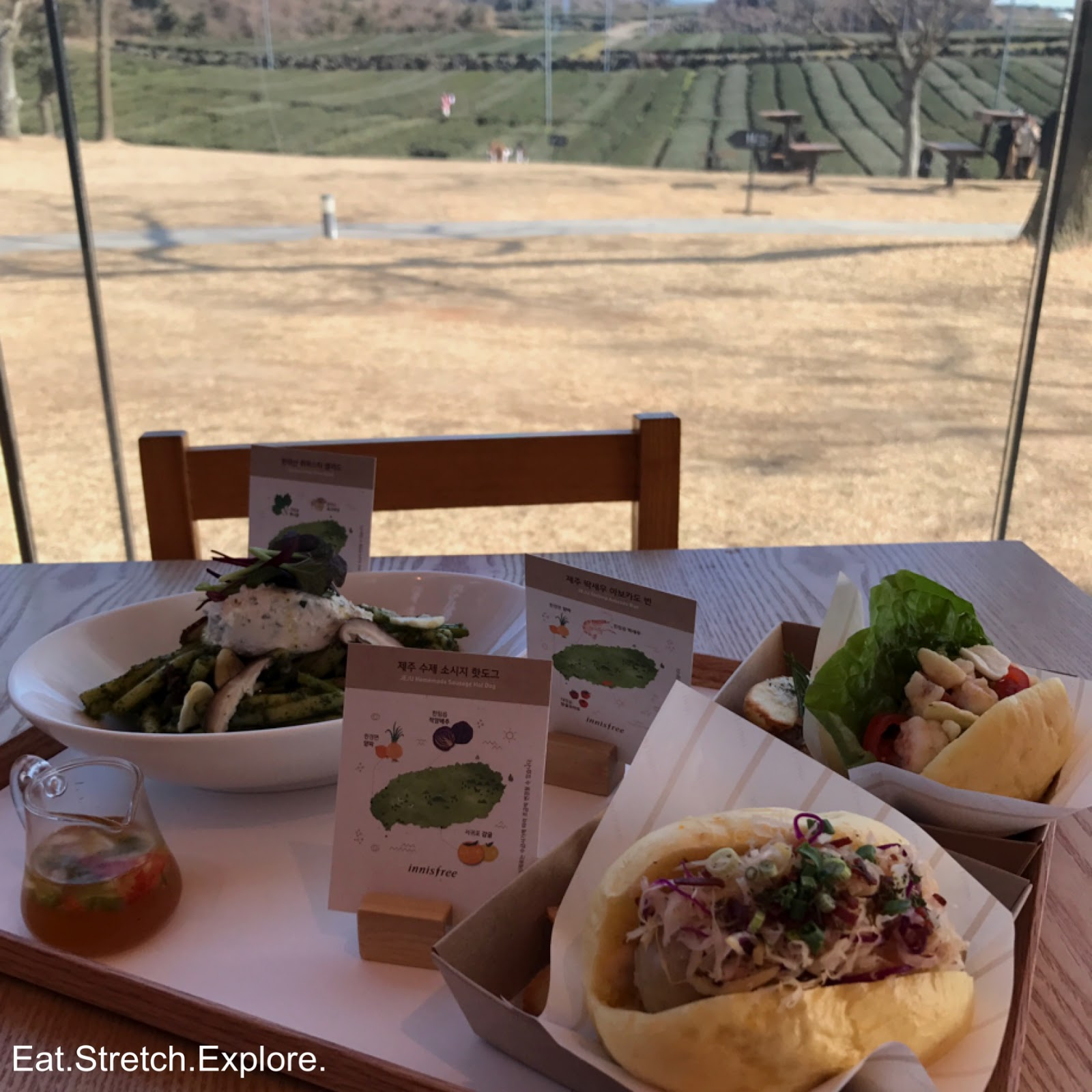 eat. stretch. explore.: [jeju] innisfree jeju house green cafe