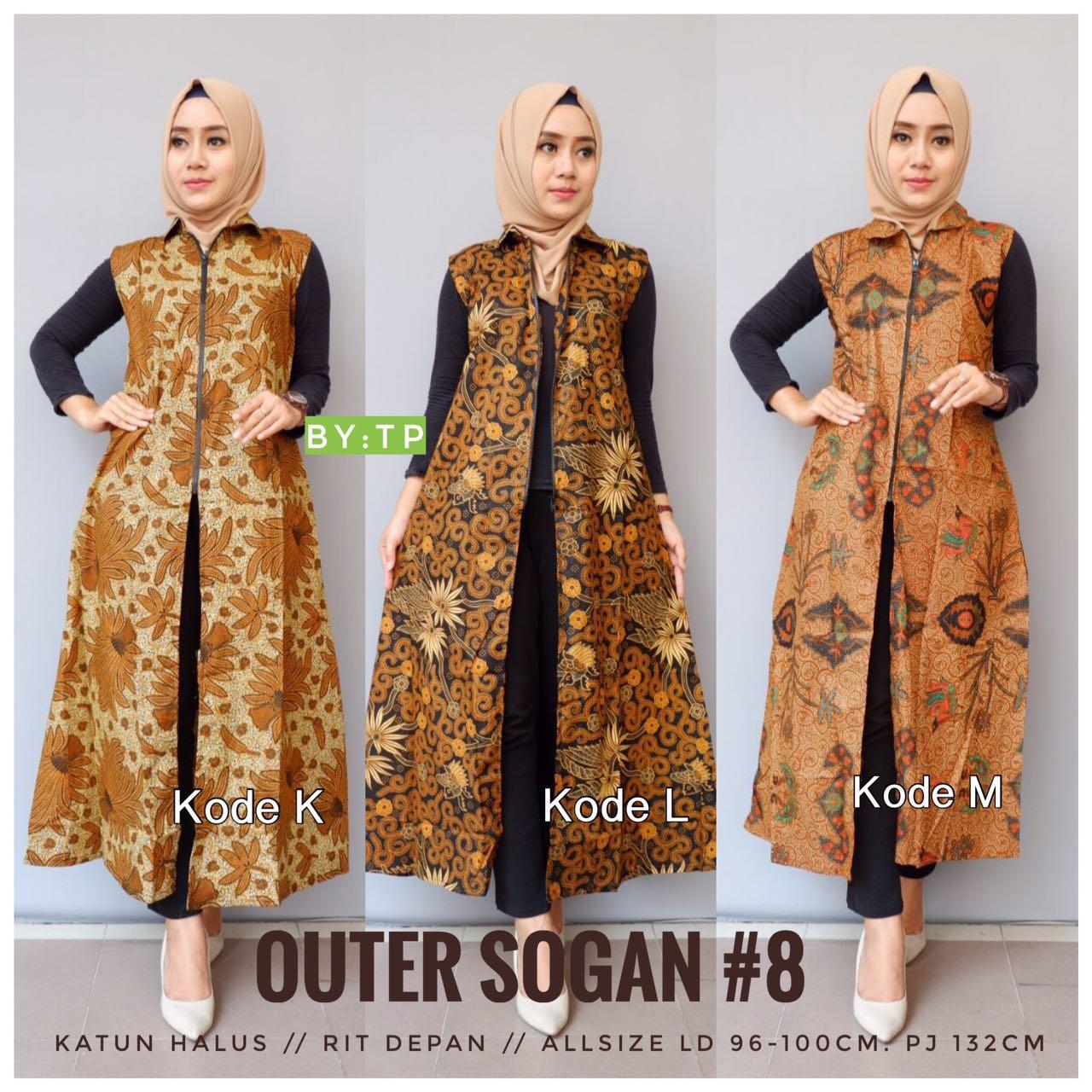 Batik Outer Sogan 8 K L M Aneka Batik Murah