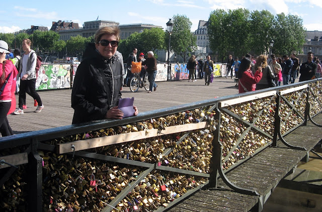 on the Pont des Arts bridge in Paris...not locking, just looking