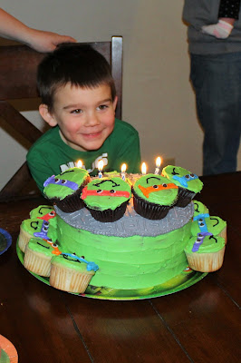Shell-a-brating 5th Birthday Ninja Turtle Style
