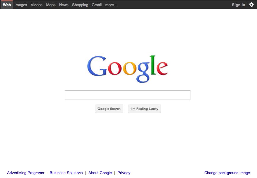 La nuova homepage di Google  Webnews