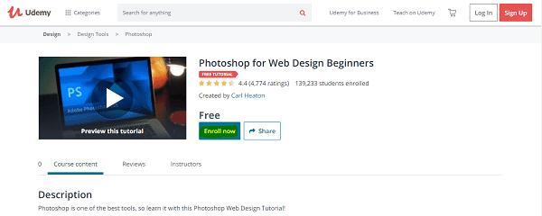 سارع للحصول على كورس احترافي لتعلم تصميم المواقع بالفوتوشوب مجانا