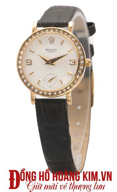 đồng hồ nữ dây da đẹp mặt tròn