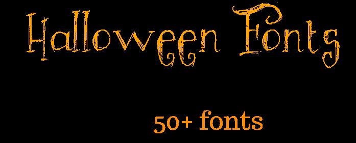 Halloween Fonts Roundup 50 plus Fonts!