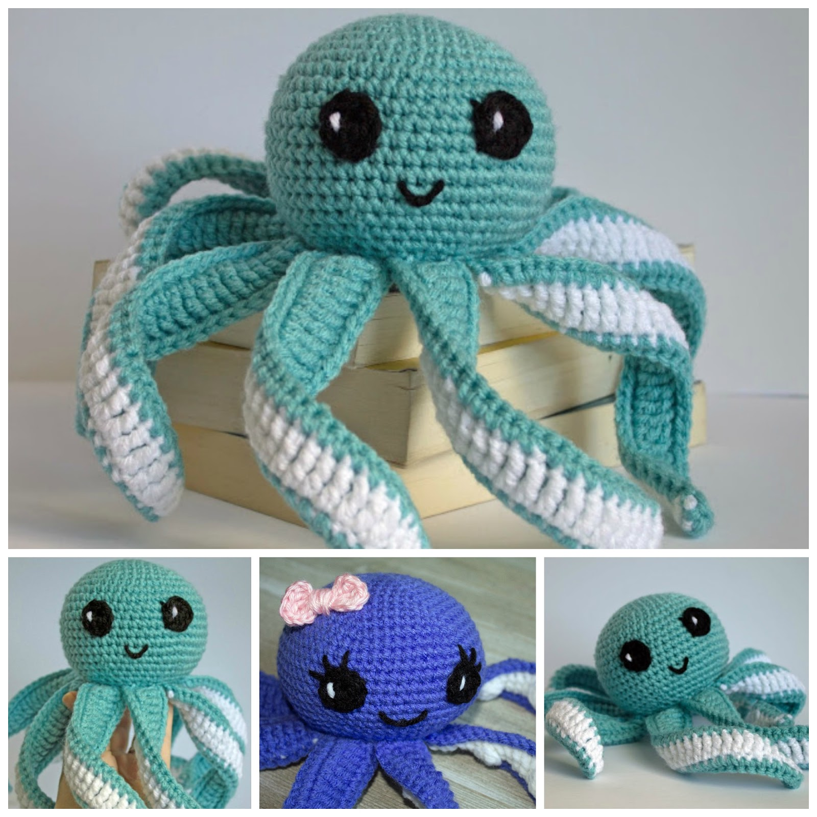 Crochet Baby Octopus Toy - Free Crochet Pattern - Whistle and Ivy | 1600x1600