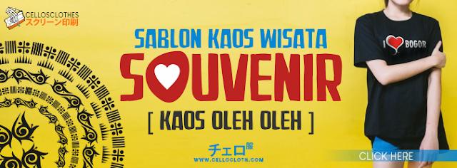 SABLON KAOS OLEH OLEH