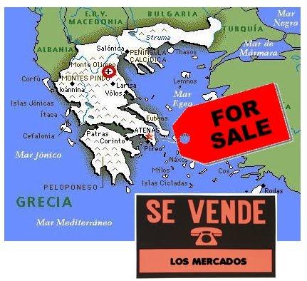 Resultado de imagen de Grecia EN VENTA
