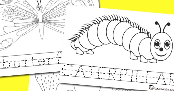 - Very Hungry Caterpillar Coloring & Word Tracing Totschooling - Toddler,  Preschool, Kindergarten Educational Printables