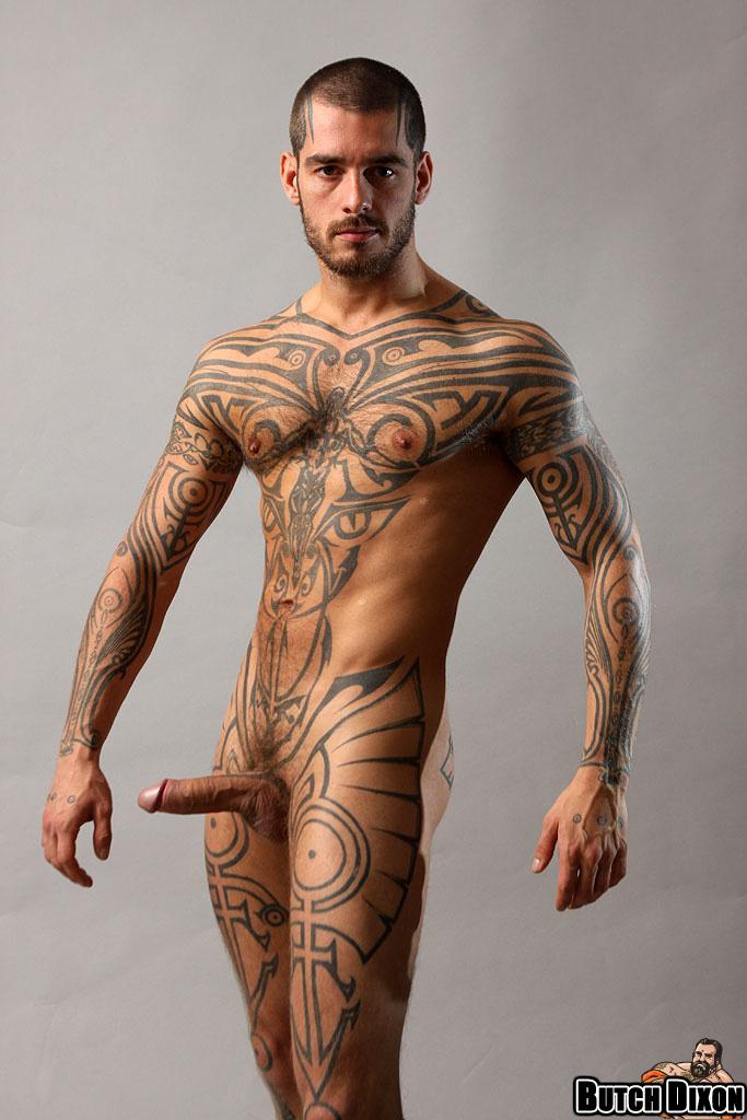 Hall Of Gay Porn Stars Logan Mccree - Tattoos All Over-1085