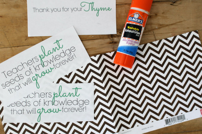 Teacher Gift Idea With FREE Printable