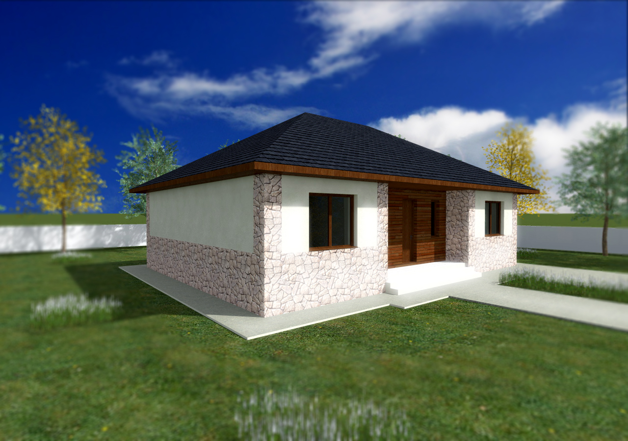 Free small bungalow home blueprints and floor plans for for Affordable house design
