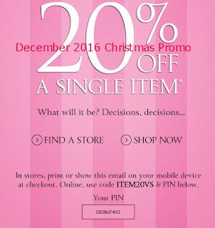 Victoria's Secret coupons december 2016