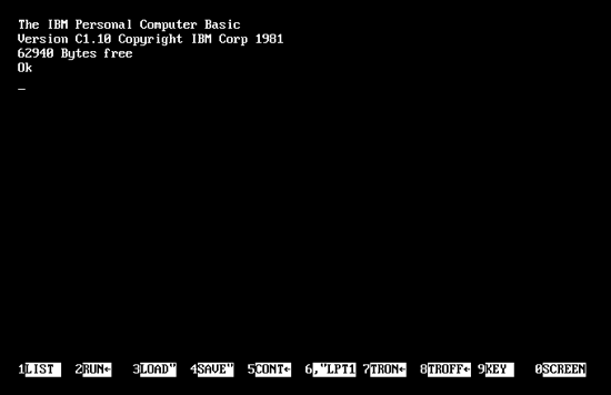 IBM 5150 boot screen