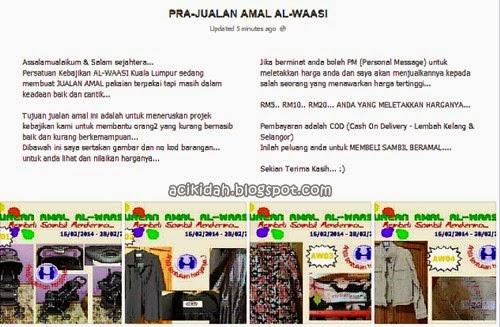 Pra Jualan Amal Al-Waasi