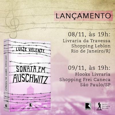 Luize Valente lança livro  Sonata em Auschwitz