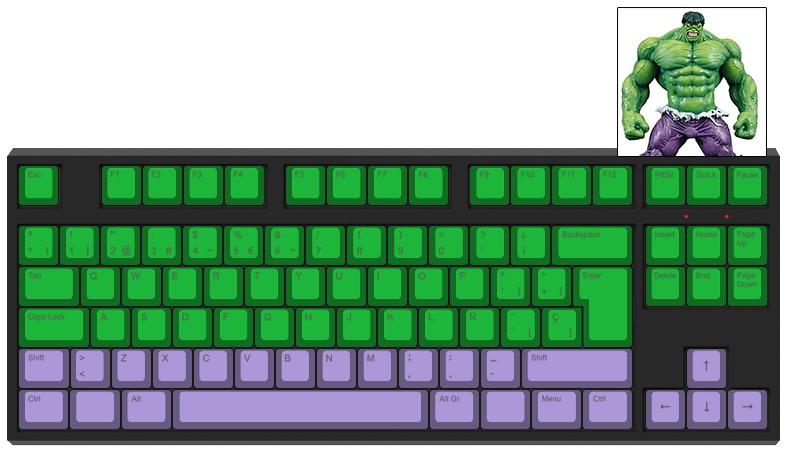 Hulk - Diseño teclado mecánico - dPunisher