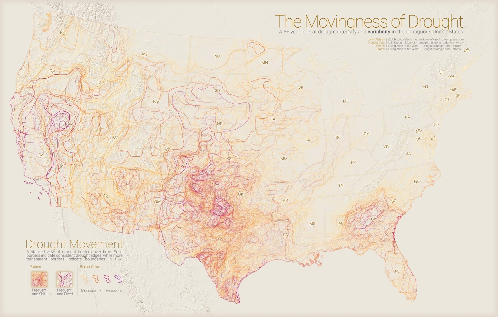The movingness of drought
