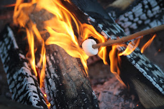 Image: S'mores over the fire