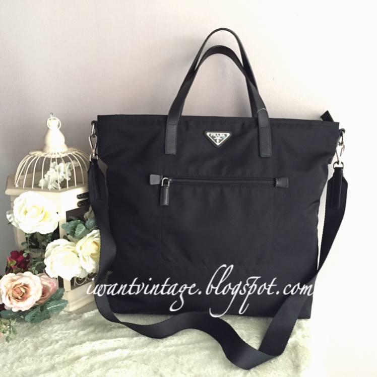 369ad3a7a4ea I Want Vintage   Vintage Designer Handbags: Prada BN2530T Tessuto ...