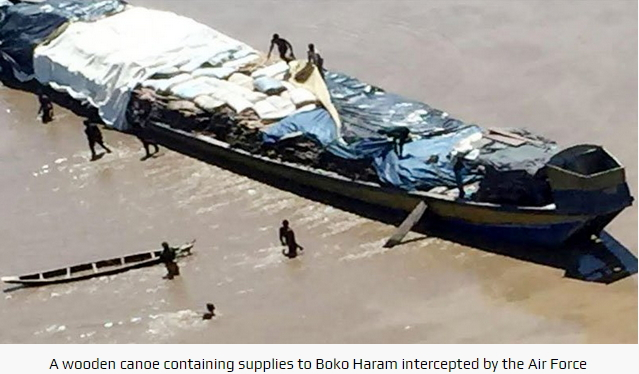 canoe supplying boko haram