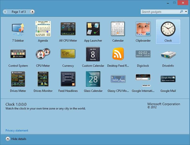 Tech O Blog : How to get Desktop Gadgets back in Windows 8/8 1