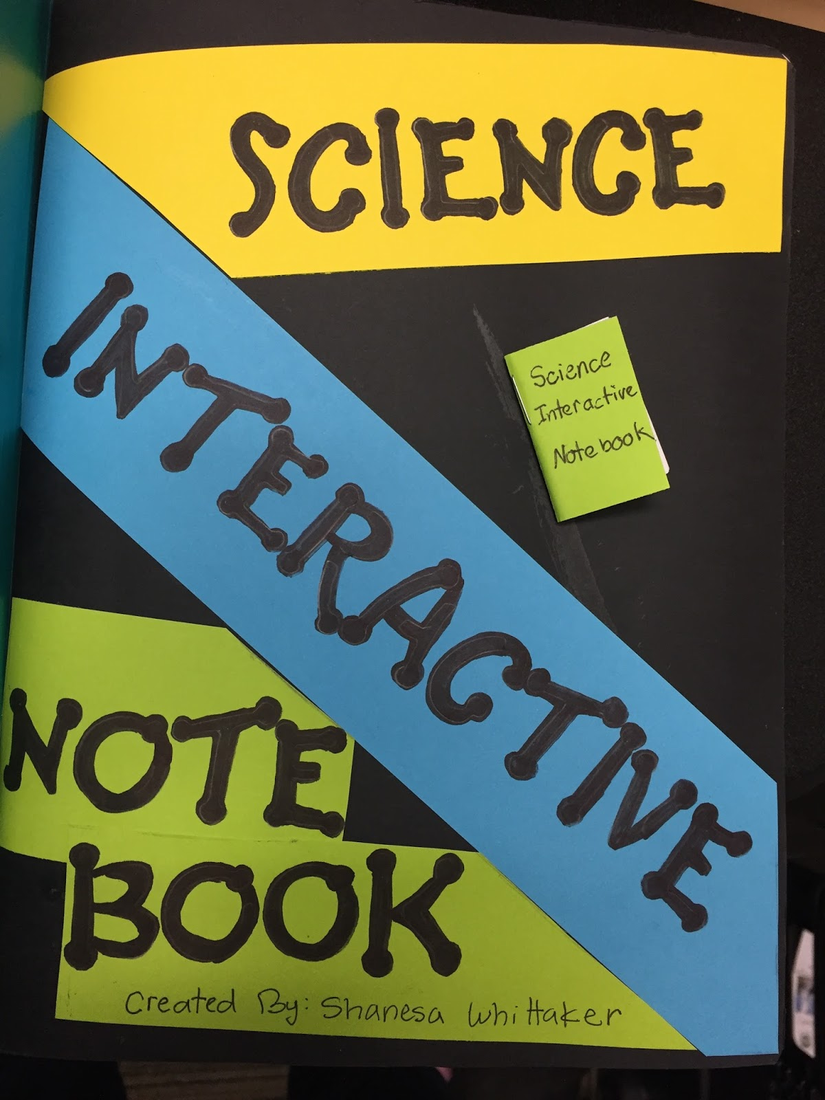 teaching science with lynda  title page and cover pages for interactive notebooks