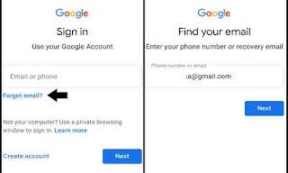 Forget email dan masukkan alamat email