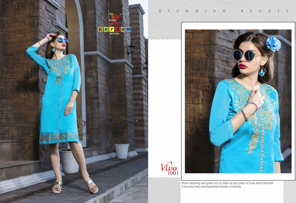 Vivo – Ladies Pure Heavy Kora Silk Kurti Buy Online