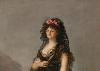 Queen María Luisa Wearing a Mantilla, Goya