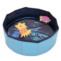 Kitty Pool mit schwimmfähigem Spielzeug