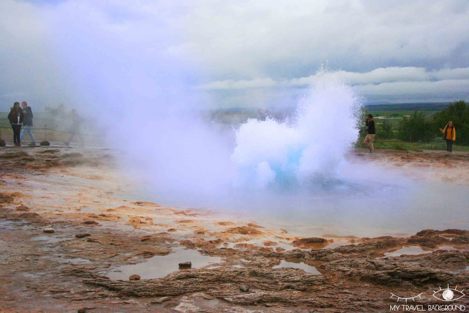 My Travel Background : visite du Cercle d'Or en Islande - Geysir