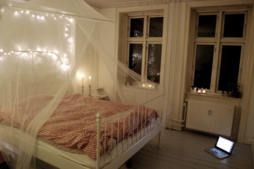 Ini Antara Contoh Deko Bilik Tidur Idaman Saya Menggunakan Katil Ikea Yang Sangat Vintage Kelambu Dan Juga Fairy Light Dah Lama Minat