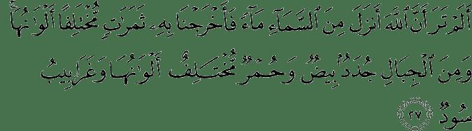 Surat Al-Fathir Ayat 27