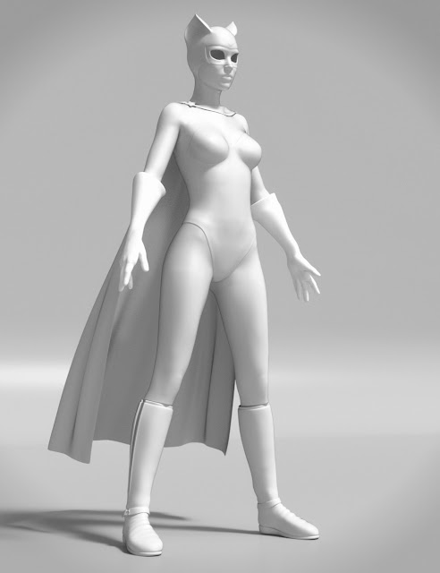 Superhero Add-On for Super Bodysuit Genesis 3 Female