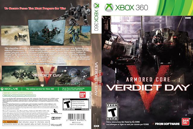 Capa xBox360 Armored Core Verdict Day