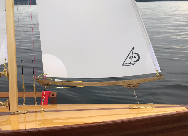 Vintage Marblehead sailboat laser cut boom