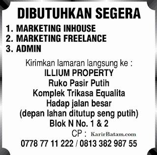 Lowongan Kerja PT. Illium Property