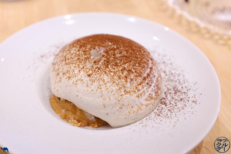 Le Chameau Bleu - Blog Gastronomie et Voyage   - Espuma de banane glace caramel du Restaurant Gastronomique Toyo à Paris